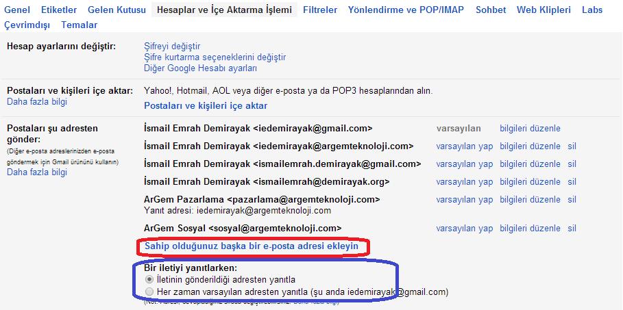 Google e-mail Gönderme Hesabı Ekleme