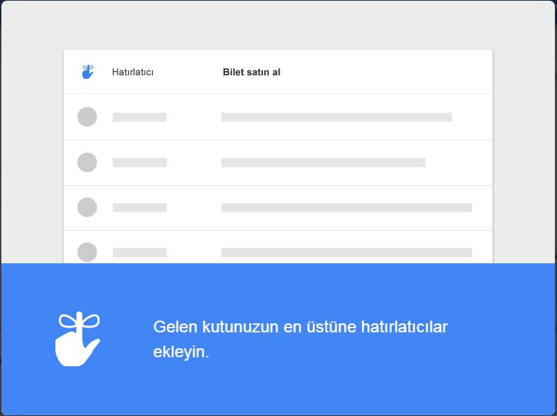 Google Inbox Hatırlatıcı